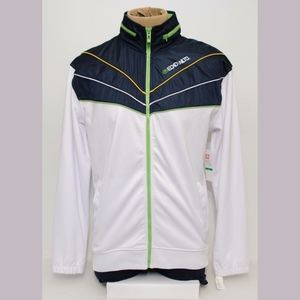 Ecko Unltd White Blue Green Full Zipper Large